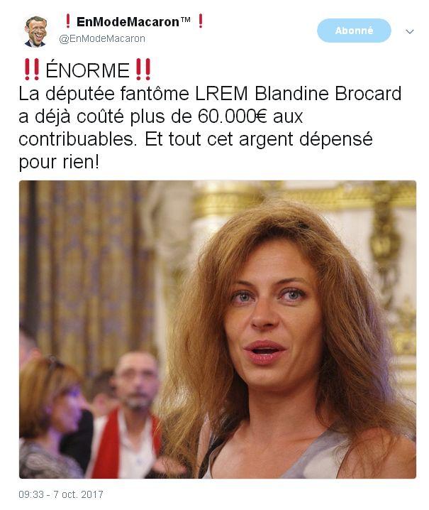 Les riches heures de Blandine-Brocard, la belle oisive LREM.