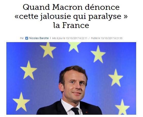 Macron l'a dit : tous jaloux