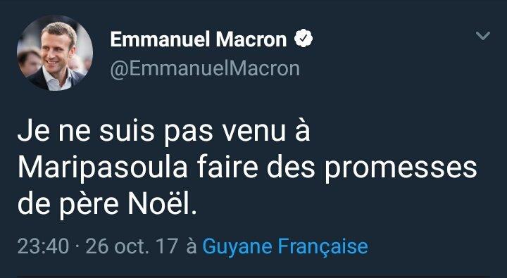 Macron s'en prend au Père Noël